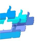 Come - il simbolo della rete sociale Fotografie Stock