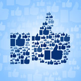 Come il simbolo su fondo blu-chiaro Fotografie Stock