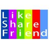 Come l'amico della parte ed il logo di immagine Fotografie Stock