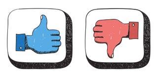 Come le icone di avversione Immagine Stock Libera da Diritti