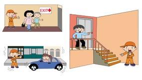 Come occuparsi dell'illustrazione di emergenza Fotografie Stock