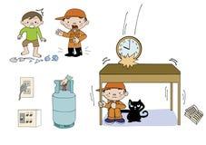 Come occuparsi dell'illustrazione di emergenza illustrazione vettoriale