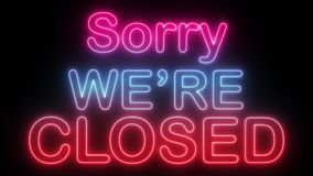 Come in we are open - Neon royalty free illustration