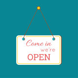 Come in We are Open Sign Royalty Free Stock Photos