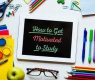 Come ottenere motivato di studiare Immagini Stock Libere da Diritti