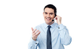 Come posso assistervi oggi? Immagine Stock