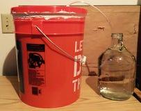 Come produrre la vostra propria bevanda alcolica Fotografie Stock