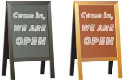 Come in we`re open sign display for shops or business Royalty Free Stock Photo