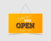 Come in We're open Stock Photography