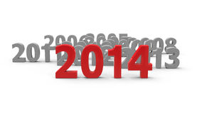 2014 come. Represents the new year 2014, three-dimensional rendering Stock Photo
