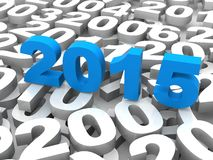 2015 come. Represents the new year 2015, three-dimensional rendering Stock Photography