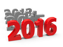 2016 come. Represents the new year 2016, three-dimensional rendering Stock Photo