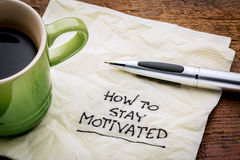 Come restare motivato Fotografie Stock