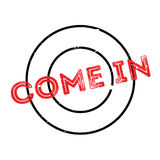 Come In rubber stamp Stock Photo