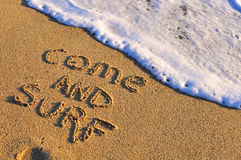 Come and surf Stock Images