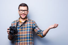 Come to me to get good photo. Royalty Free Stock Photos