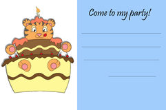 Come to my party!. Invitation for children birthday party Royalty Free Stock Photography