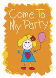 Come To My Party - Girl Royalty Free Stock Photography