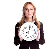 Come to work in time Royalty Free Stock Image