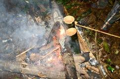 Come vivere nelle foreste e nelle sussistenze Fotografia Stock Libera da Diritti