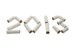 Comece 2013 anos novo sem fumar! Fotos de Stock Royalty Free