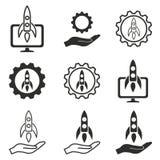Comece acima o grupo do ícone Imagens de Stock Royalty Free