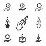 Comece acima o grupo do ícone Imagens de Stock