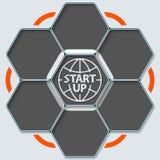 Comece acima o símbolo Imagens de Stock