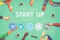 Comece acima a possibilidade do sucesso do crescimento da oportunidade começar o conceito foto de stock royalty free