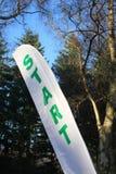 Comece a bandeira em um evento de esportes Imagens de Stock Royalty Free