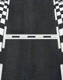 Comece e termine a linha circuito grande da raça de Prix da textura do asfalto Imagem de Stock