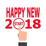 Comece a ideia 2018 do ano novo ilustração royalty free