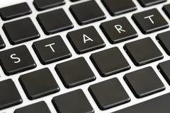 Comece no teclado Foto de Stock