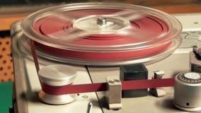 Comece o carretel da rotação, registrador de cassete áudio vídeos de arquivo