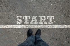 Comece o conceito do negócio fotografia de stock