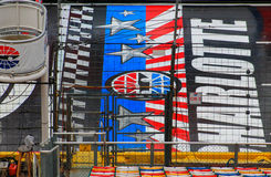 Comece o meta em Charlotte Motor Speedway Fotos de Stock