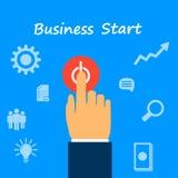 Comece o negócio Imagens de Stock Royalty Free