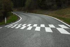 Comece o teste padrão na estrada secundária imagem de stock