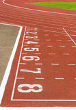 Comece a pista de atletismo Imagem de Stock Royalty Free