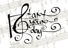Comece seu dia com música ilustração do vetor