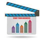 Comece seu negócio bem sucedido Fotos de Stock