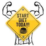 Comece seu teste padrão dos elementos do fundo da dieta hoje, cartaz abstrato do negócio da qualidade super ilustração do vetor
