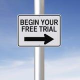 Comece sua versão de avaliação gratuita Foto de Stock