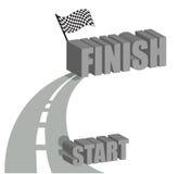 Comece terminar o projeto da ilustração da estrada Fotografia de Stock Royalty Free