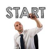 Comece uma carreira bem sucedida do negócio Foto de Stock Royalty Free