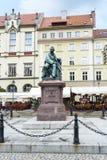 Comedia-escritor Aleksander Fredro del monumento Fotos de archivo libres de regalías