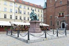 Comedia-escritor Aleksander Fredro del monumento Imágenes de archivo libres de regalías