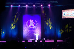 Comedian Gabriel Iglesias preforms on stage Royalty Free Stock Images