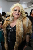 Comedian Sultana Lips attends the Helen Yarmak presentation during MBFW Fall 2015 Royalty Free Stock Photo