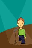 Comediante de pé ilustração stock